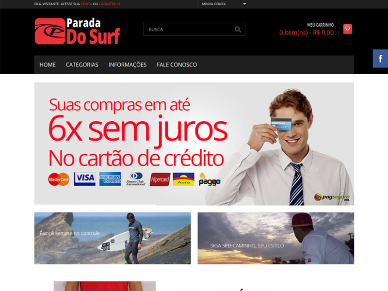 Parada do Surf Website